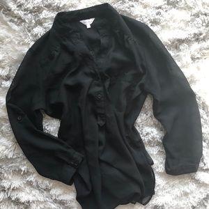 Sheer Long sleeve tunic
